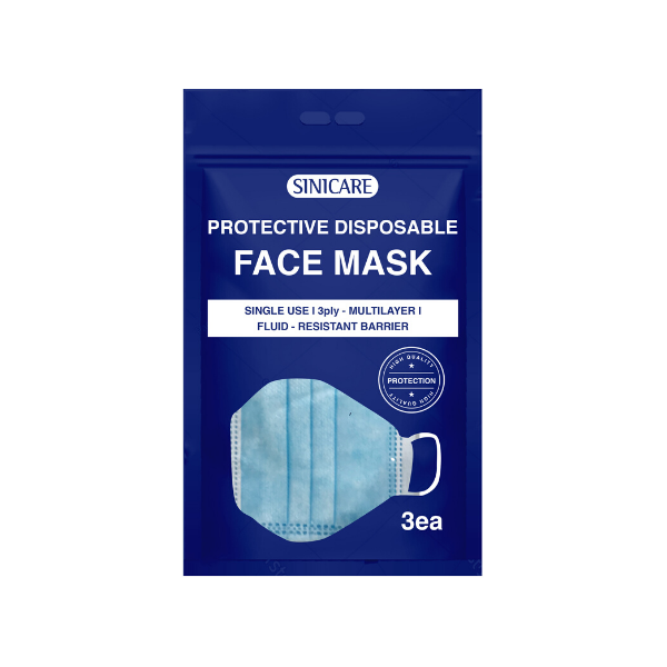 Sinicare 3 Ply Disposable Protective Face Mask (3 pack)