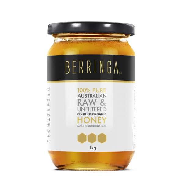 Berringa Certified Organic Raw and Unlfiltered Eucalyptus Honey 1KG