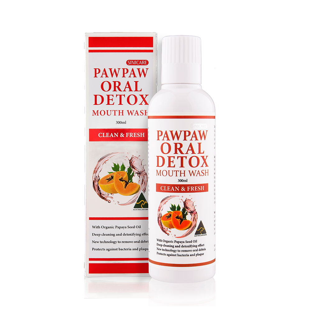 SINICARE Pawpaw Oral Detox Mouth Wash 300ml
