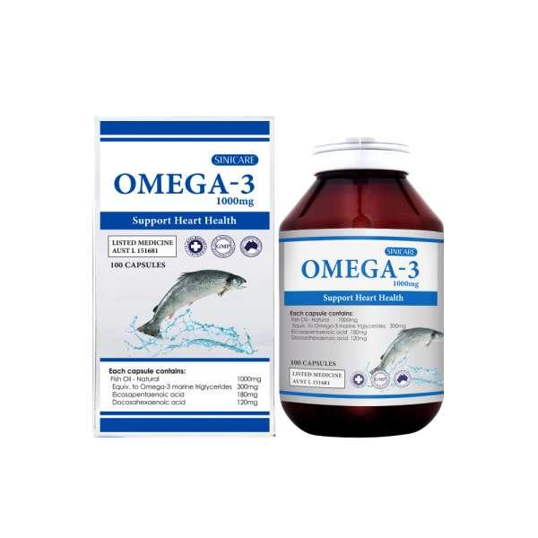 SINICARE Omega-3 1000mg 100s