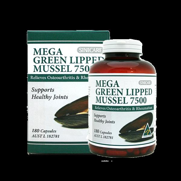 SINICARE Mega Green Lipped Mussel 180s